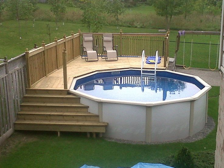 best above ground pool decks a how to build diy guide - Above Ground Pool Deck Off House